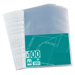 Pochettes perforées basics pqt 100