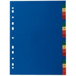 Intercalaires A4 carton couleur alpha