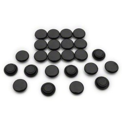 Lot de 20 aimants diam 20mm noir