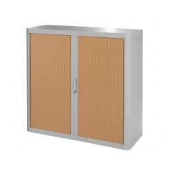 Armoire basse rideau L120 x P45 x H100
