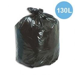 Sac poubelle 130 l noir 55µ x100