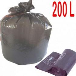 sac poubelle 200 l gris