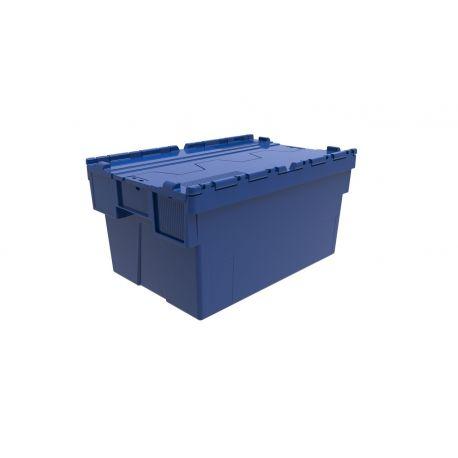 Bac Couvercle Bleu 600x400x250
