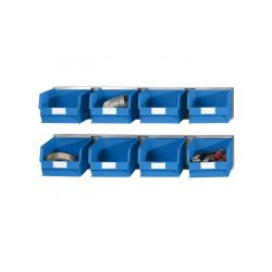 Kits 2 rails muraux avec 8 bacs à bec
