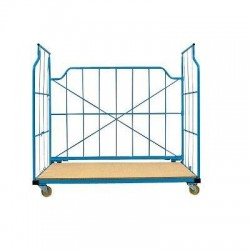 Chariot container repliable emboîtable 800kg