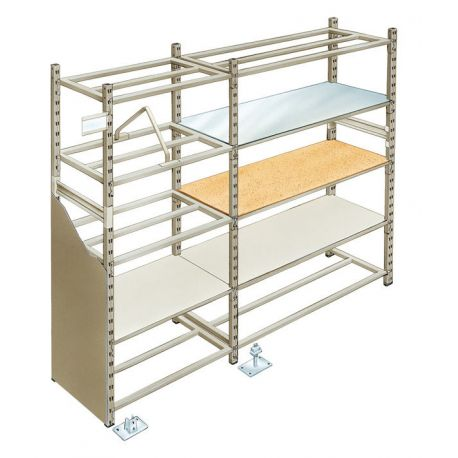 rayonnage 4 tag res sur mesure manudom. Black Bedroom Furniture Sets. Home Design Ideas