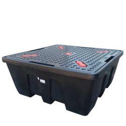 Bac CUBI-PE 1200L  avec caillebotis PE