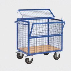 Chariot Container Grillagé avec Couvercle 1200x750x1100mm