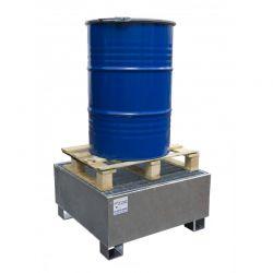 Bac de rétention pour stocker sur rétention 1 fût debout de liquides polluants