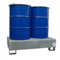 Bac de rétention pour stockage de 2 fûts debout - 220 L