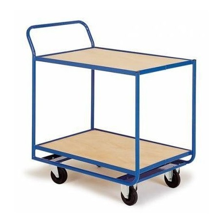 Chariot magasin 2 plateaux fixe