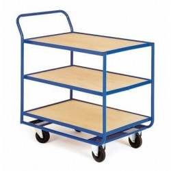 Chariot magasin 3 plateaux fixe
