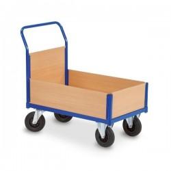 Chariot  4 cotés amovibles 1 dossier, 3 demi-ridelles