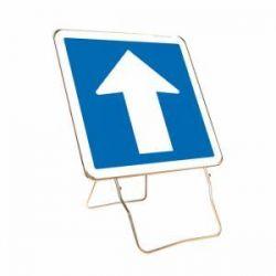 Signalisation d'indication bleu